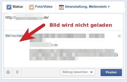 Facebook Cache löschen, damit das Vorschaubild angezeigt wird.