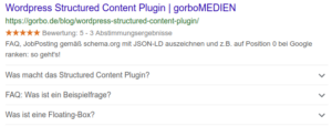 structured content faq serp