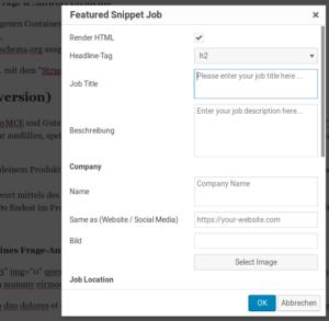 Structured Content JobPosting