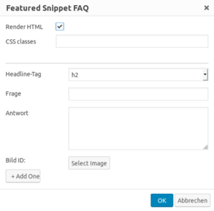 structured content multi faq