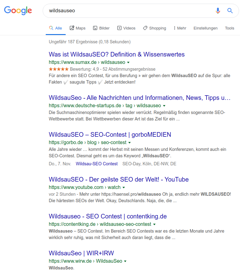 wildsauseo ranking